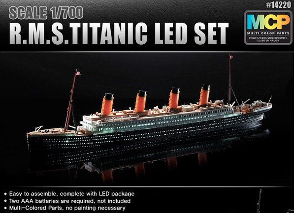 Academy 1/700 R.M.S. Titanic LED Set (MCP) # 14220