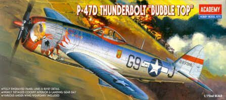 Academy 1/72 Republic P-47D Thunderbolt 'Bubbletop' # 12491