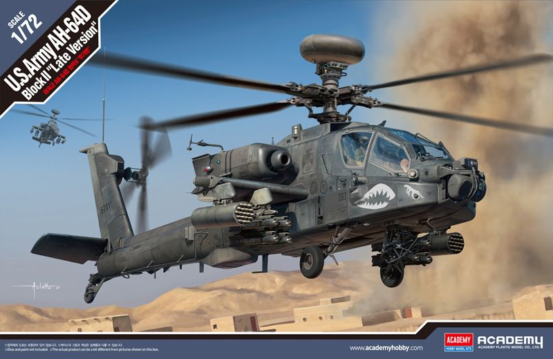 "Academy 1/72 U.S. Army AH-64D Block II ""Late Version"" # 12551"