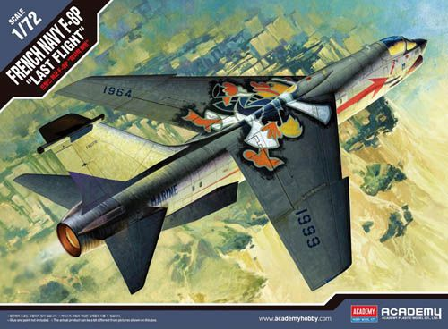 "Academy 1/72 Vought F-8P French Navy ""Last Flight"" # 12559"