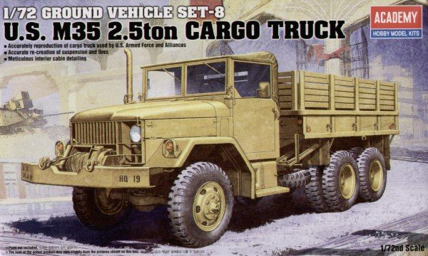 Academy 1/72 WWII Ground Vehicle Set-8 U.S. M35 2.5ton Cargo Truck # 13410