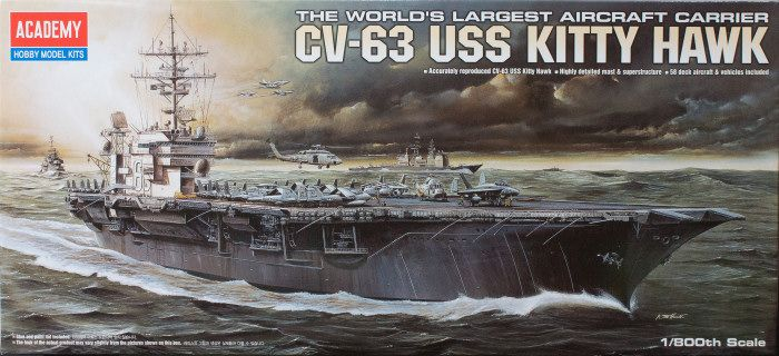 Academy 1/800 CV-63 USS Kitty Hawk # 14210