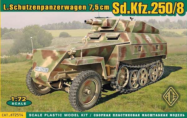 Ace 1/72 German Sd.Kfz.250/8 Stummel # 72514