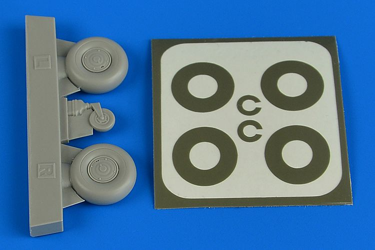 Aires 1/32 Bucker Bu-131B/Bu-131D Covered Main & Tail Wheels & Paint Masks # 2226