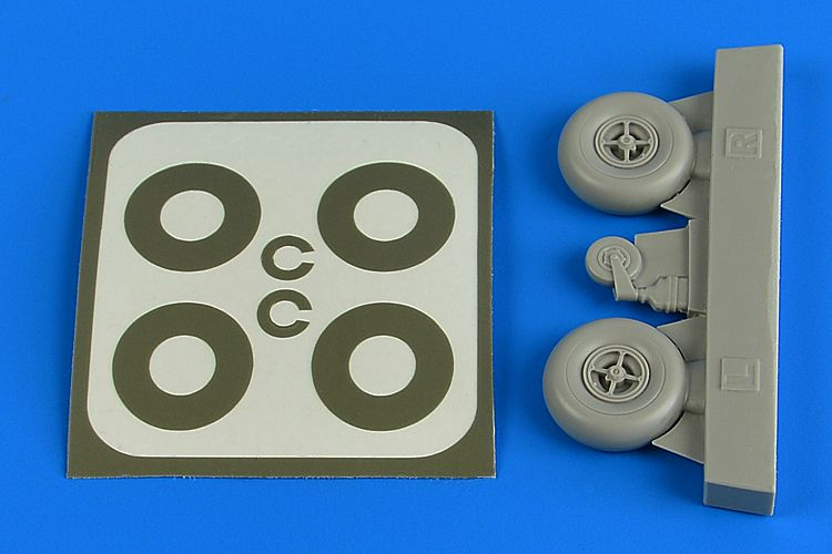 Aires 1/32 Bucker Bu-131B/Bu-131D Open Main & Tail Wheels & Paint Masks # 2224