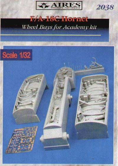 Aires 1/32  F/A-18C Hornet Wheel Bays # 2038