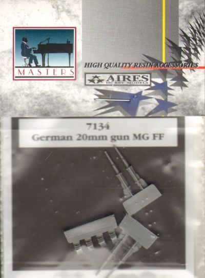 Aires 1/72  German MGFF 20mm Guns # 7134