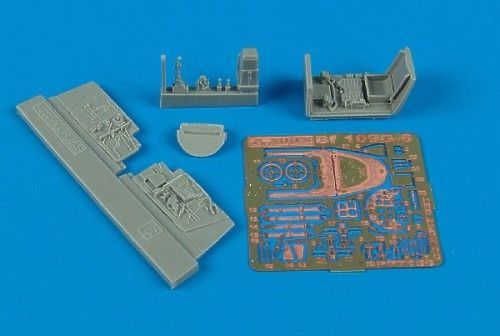 Aires 1/72 Messerschmitt Bf 109G-6 cockpit set # 7156