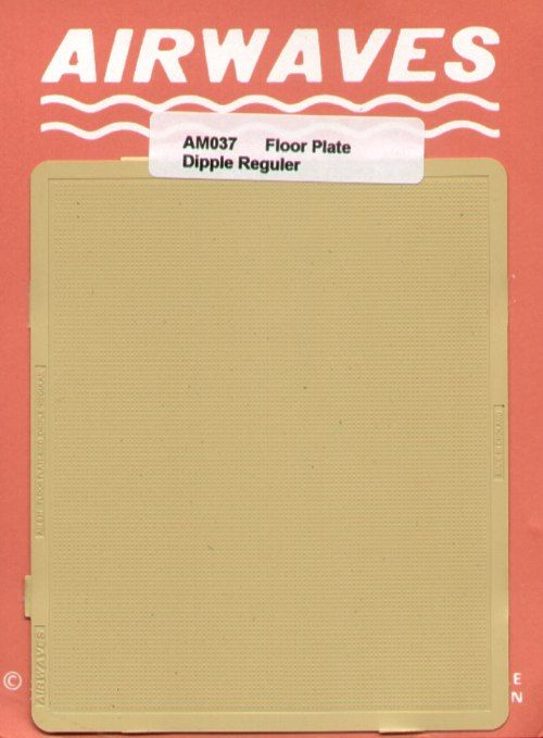 Airwaves 1/72 Floor Plate Regular Dimple Pattern # AEM037
