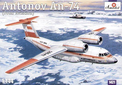 Amodel 1/144 Antonov An-74 (Polar Aviation) # 1421