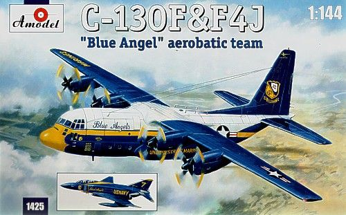Amodel 1/144 Lockheed C-130 and McDonnell F-4J 'Blue Angel' Aerobatic Team # 14425