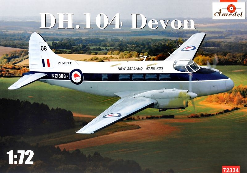 Amodel 1/72 DH.104 Devon 'New Zealand Warbirds NZ-1808' # 72334
