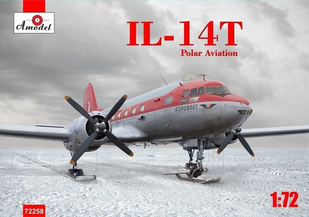 "Amodel 1/72 Ilyushin Il-14Т ""Crate"" Polar Expedition on Ski's # 72258"