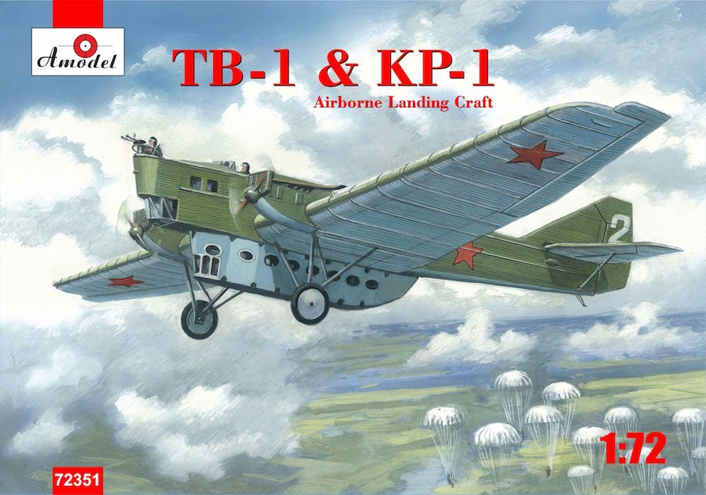Amodel 1/72 TB-1 & KP-1 Airborne Landing Craft Parachute Version # 72351