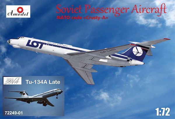 Amodel 1/72 Tupolev Tu-134A LOT and Aeroflot # 72249-1