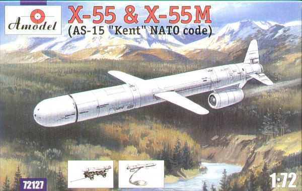 Amodel 1/72 X-55 and X-55M (AS-15 Kent) Cruise Missile # 72127