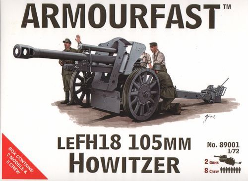 Armourfast 1/72 LeFH18 105mm Howitzer # 89001