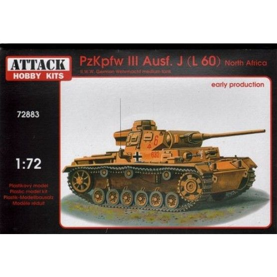 Attack 1/72 Pz.Kpfw. III Ausf. J (L 60) North Africa Early Production # 72883