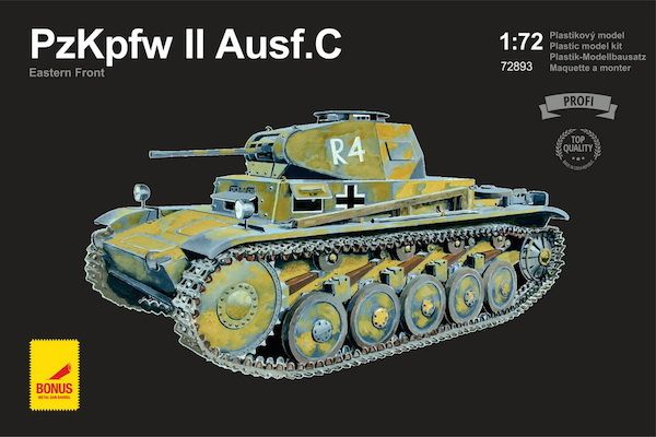 Attack 1/72 Pz.Kpfw.II Ausf.C Eastern Front with metal gun barre