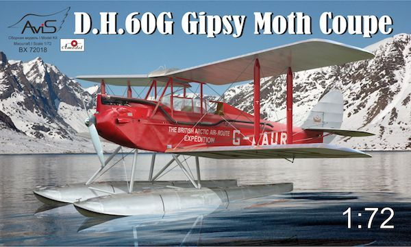 Avis 1/72 de Havilland DH.60G Gipsy Moth Coupe # 72018