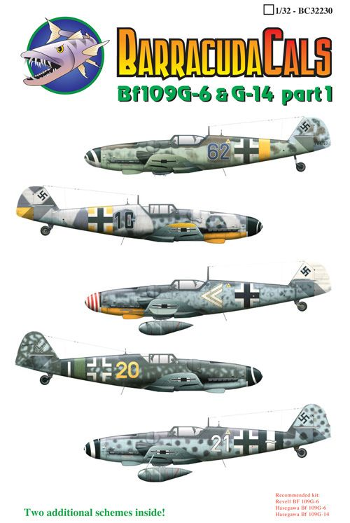 Barracuda Decals 1/32 Messerschmitt Bf-109G-6 and G-14 Part 1 # 32230