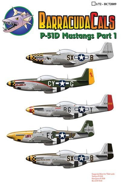 Barracuda Decals 1/72 North-American P-51D Mustangs of the 8th Air Force # 72009
