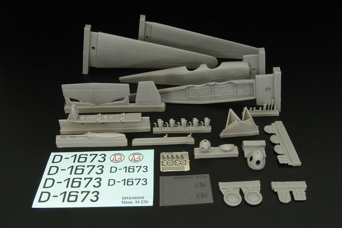Brengun 1/48 Messerschmitt B.F.W. M-23b German Pre-WWII Plane Resin Kit # S48008