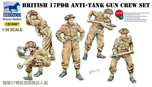 Bronco 1/35 British 17pdr Anti-Tank Gun Crew Set # CB35087
