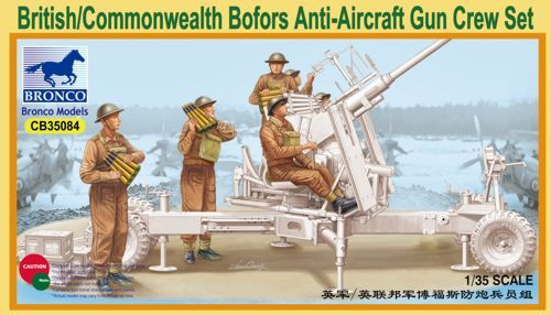 Bronco 1/35 British/Commonwealth Bofors Anti-Aircraft Gun Crew Set # CB35084