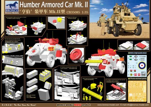 Bronco 1/35 British Humber Armored Car Mk.II # CB35085