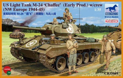 Bronco 1/35 M-24 'Chaffee' US Light Tank (Early Production NW Europe 1944-45) with Crew # CB35069