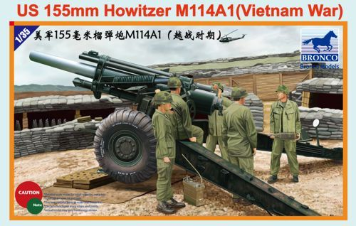 Bronco 1/35 US 155mm Howitzer M114A1 (Vietnam War) # CB35102