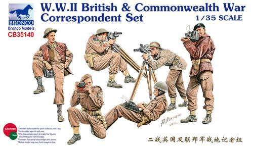 Bronco 1/35 WWII British & Commonwealth War Correspondent Set # CB35140