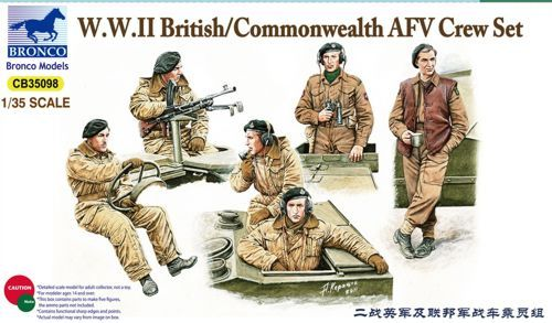 Bronco 1/35 WWII Britsh/Commonwealth AFV Crew Set # CB35098