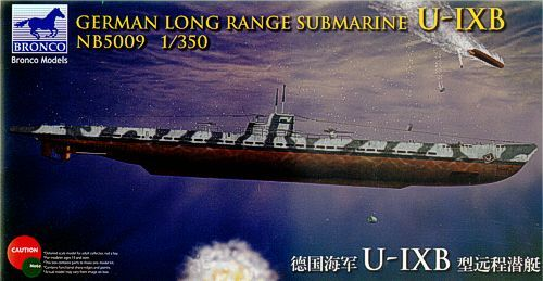 Bronco 1/350 German Long Range Submarine U-IXB # NB5009