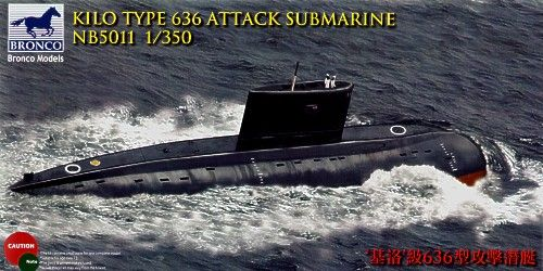 Bronco 1/350 Kilo Type 636 Attack Submarine # NB5011