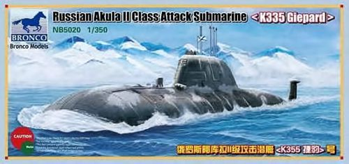"Bronco 1/350 Russian Akula II Class Attack Submarine ""K335 Giepard"" # NB5020"