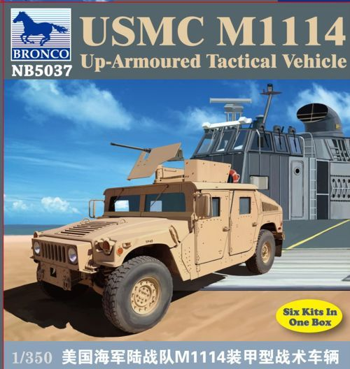 Bronco 1/350 USMC M1114 Up-Armoured Tactical Vehicle # NB5037