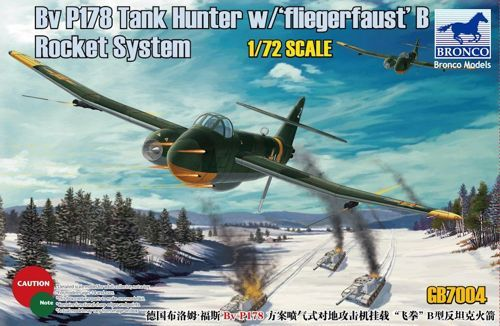 "Bronco 1/72 Blohm & Voss P178 Tank Hunter with ""Fliegerfaust"" B Rocket System # GB7004"