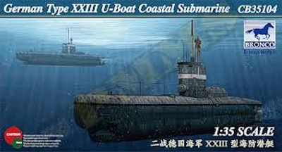 Bronco Models 1/35 German Type XXIII U-Boat Coastal Submarine # CB35104