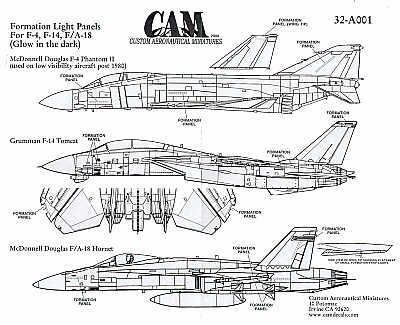 CAM 1/32 Formation Light Panels # 32A01