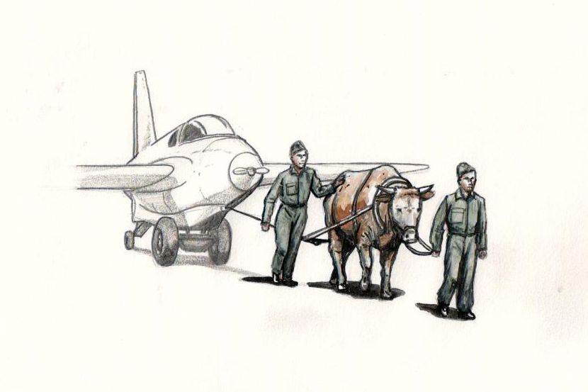 CMK 1/72 Towing Ox with 2 x Luftwaffe Ground Crew Figures # F72346