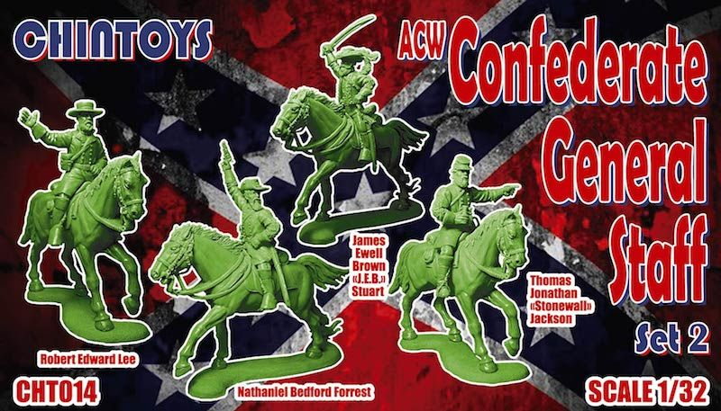Chintoys 1/32 ACW Confederate General Staff Set 2 # 014