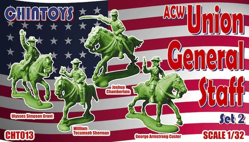 Chintoys 1/32 ACW Mounted Union General Staff Set 2 # 013