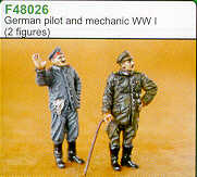 Czech Master 1/48  German Pilot & Mechanic WWI # F48026