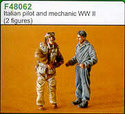 Czech Master 1/48 Italian Pilot and Mechanic # F48062