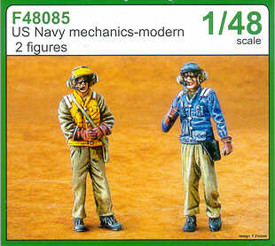 Czech Master 1/48 US Navy mechanics - modern x 2 # F48085
