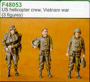 Czech Master 1/48 US helicopter crew Vietnam x 3 F48053