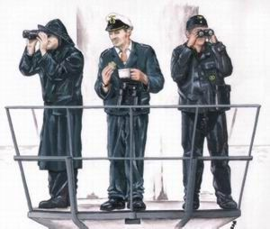 Czech Master 1/72 3 x crew figures for U-Boat Type VIIc # F72116