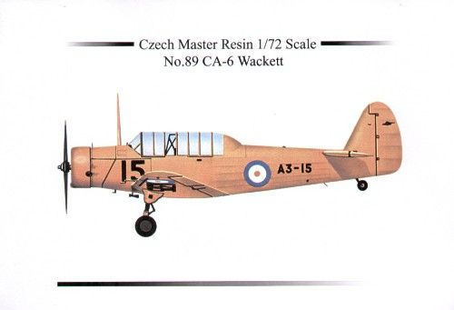 Czech Master Resin 1/72 CAC CA-6 Wackett # 5089